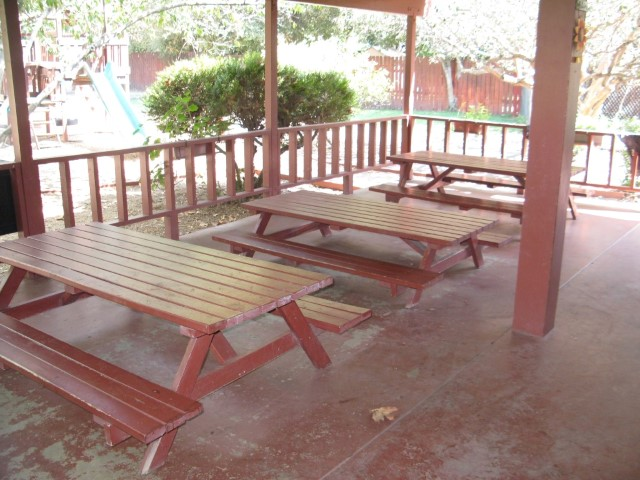 Red Preschool, Back Yard Lunch Area
